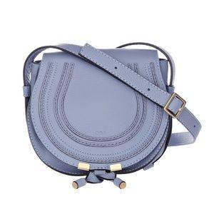 New Chloe Mini Marcie Leather Crossbody Bag